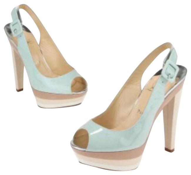 Christian Louboutin Ice Blue/Beige Blue/Beige Patent Leather 123 Scarpe Platforms Size EU 38 (Approx. US 8) Regular (M, B) Christian Louboutin Ice Blue/Beige Blue/Beige Patent Leather 123 Scarpe Platforms Size EU 38 (Approx. US 8) Regular (M, B) Image 1