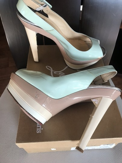 Christian Louboutin Ice blue/beige Platforms Image 1