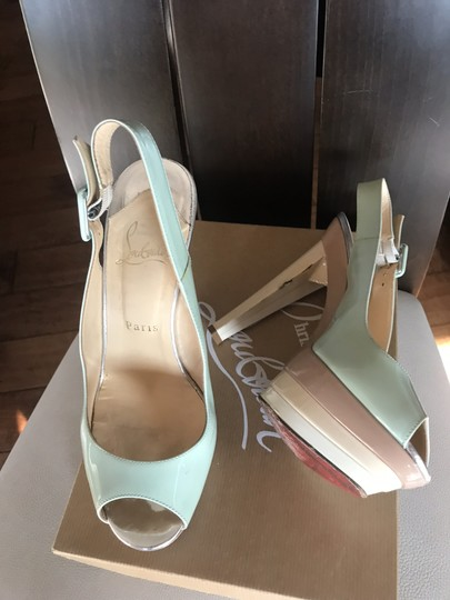 Christian Louboutin Ice blue/beige Platforms Image 2