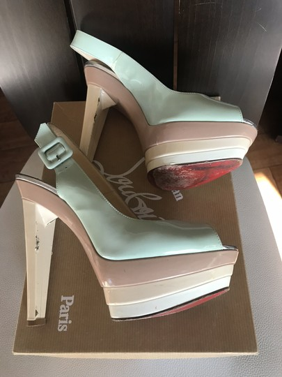 Christian Louboutin Ice blue/beige Platforms Image 3