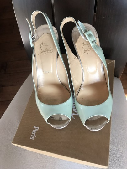 Christian Louboutin Ice blue/beige Platforms Image 4