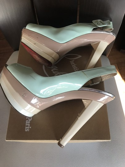 Christian Louboutin Ice blue/beige Platforms Image 5