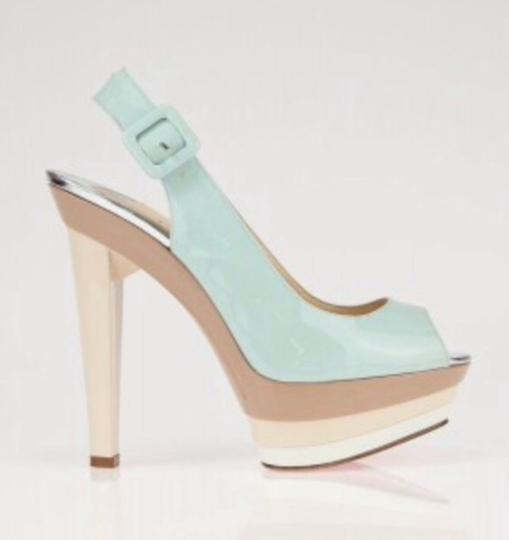 Christian Louboutin Ice blue/beige Platforms Image 6
