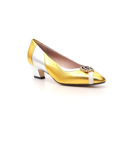 Gucci Gold Pumps Image 1
