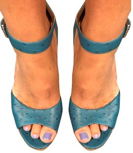 Michael Kors blue Wedges