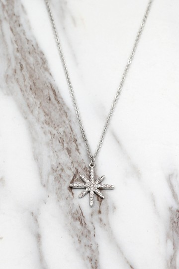 Ocean Fashion Sterling silver wild star rice crystal necklace Image 2