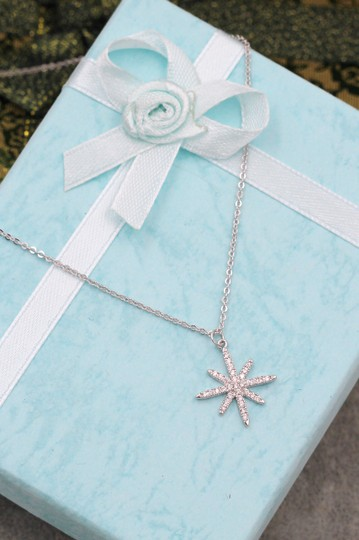 Ocean Fashion Sterling silver wild star rice crystal necklace Image 7