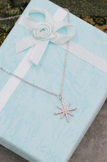 Ocean Fashion Sterling silver wild star rice crystal necklace Image 8