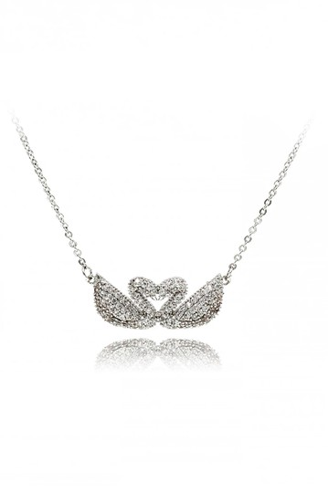 Preload https://img-static.tradesy.com/item/25690922/silver-double-swan-necklace-0-0-540-540.jpg
