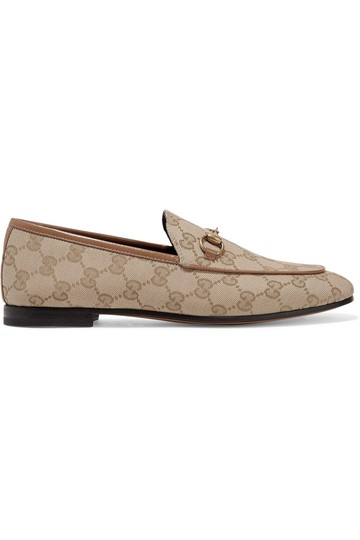 Preload https://img-static.tradesy.com/item/25690951/gucci-horsebit-jordaan-horsebit-detailed-leather-trimmed-logo-printed-canvas-loafers-flats-size-eu-3-0-0-540-540.jpg