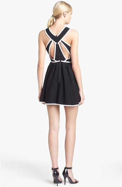 Keepsake the Label Sleeveless Piped Cut-out Mini Skater Dress Image 1