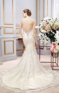 Moonlight Bridal Ivory Lace Couture - J6401 - New Sexy Wedding Dress Size 8 (M)