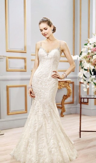 Moonlight Bridal Ivory Lace Couture - J6401 - New Sexy Wedding Dress Size 8 (M) Image 1