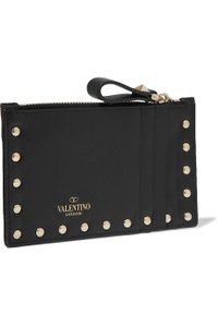 Valentino Valentino Rockstud Grainy Calfskin Coin Purse and Cardholder