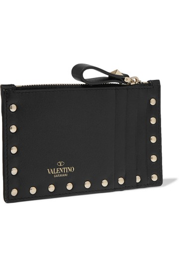 Valentino Valentino Rockstud Grainy Calfskin Coin Purse and Cardholder Image 0
