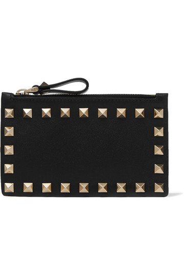 Valentino Valentino Rockstud Grainy Calfskin Coin Purse and Cardholder Image 1