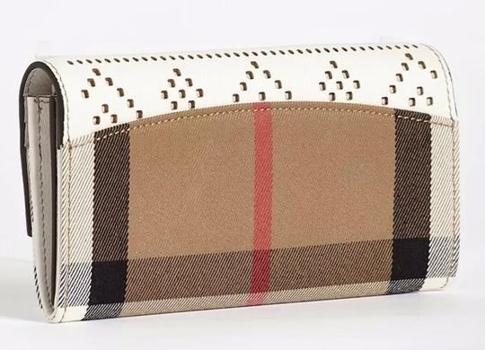 Burberry Check & Perforated Flap Wallet Image 1