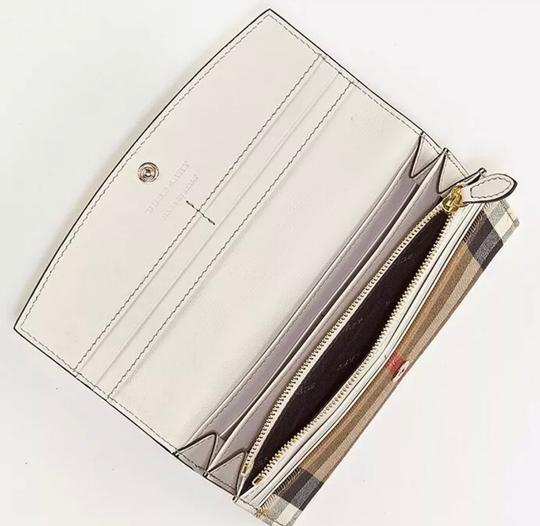 Burberry Check & Perforated Flap Wallet Image 2