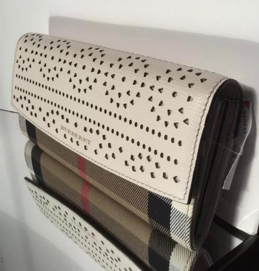 Burberry Check & Perforated Flap Wallet Image 3