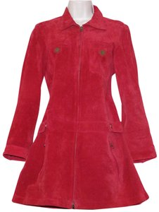 Finley red Leather Jacket