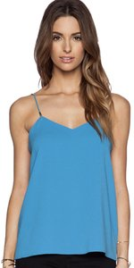 Tibi Summer Camisole Gold Hardware Night Out Comfortable Top Captain Blue
