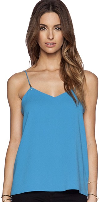 Tibi Summer Camisole Gold Hardware Night Out Comfortable Top Captain Blue Image 0