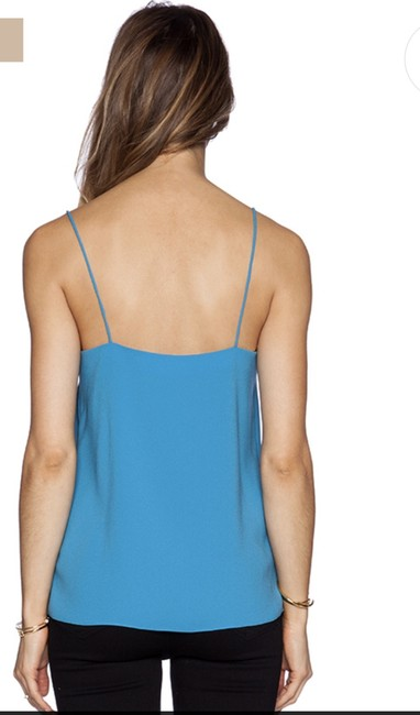 Tibi Summer Camisole Gold Hardware Night Out Comfortable Top Captain Blue Image 1