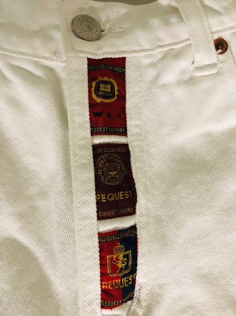 Request Jeans Bermuda Shorts White Image 1