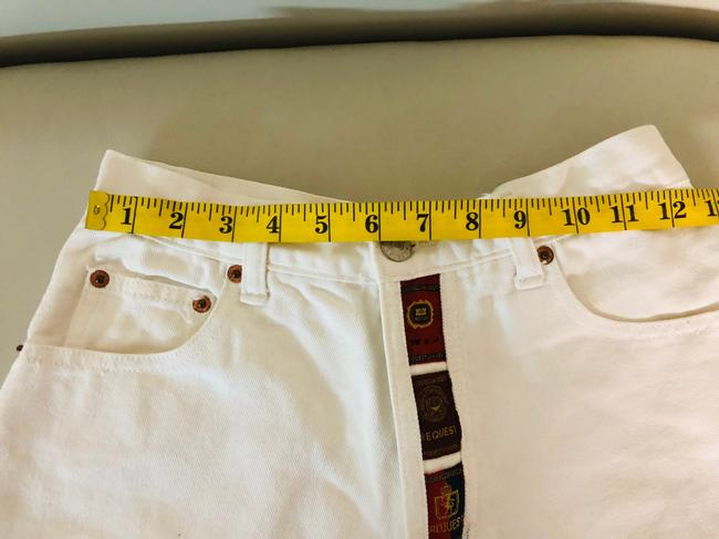 Request Jeans Bermuda Shorts White Image 3
