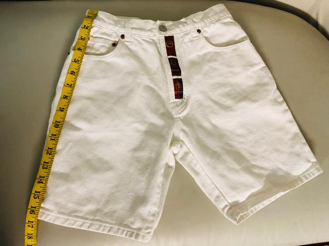 Request Jeans Bermuda Shorts White Image 4