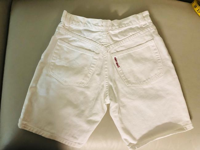 Request Jeans Bermuda Shorts White Image 5