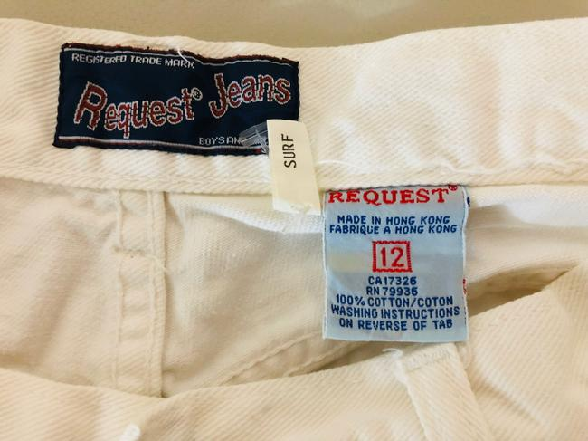 Request Jeans Bermuda Shorts White Image 6