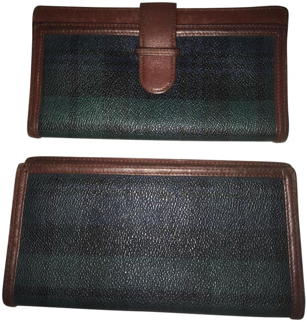 Item - Green Blue Plaid Collection Wallet