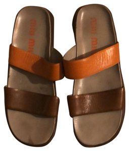 Miu Miu Tan/Brown Sandals