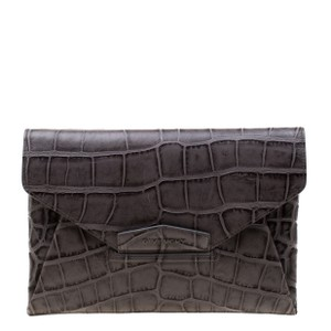 Givenchy Leather Grey Clutch