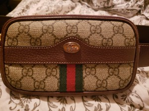 Gucci Ophidia GG supreme small canvas belt