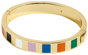 J.Crew Rainbow striped Hinge Bracelet