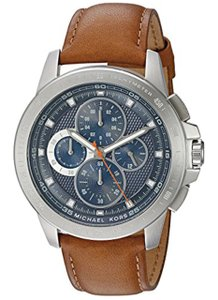 Michael Kors Michael Kors Men's Ryker Blue Dial Luggage Brown Leather Watch MK8518