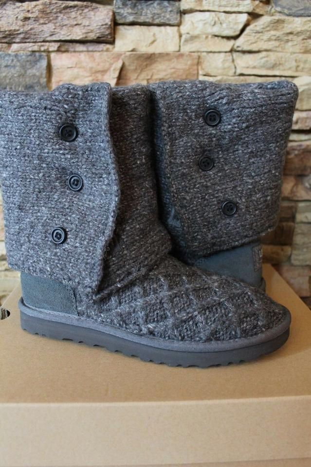 29d8c783623 UGG Australia Gray Lattice Cardy Sweater and Suede Boots/Booties Size US 7  Regular (M, B) 29% off retail