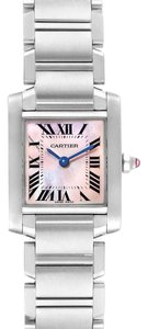 Cartier Cartier Tank Francaise Pink Mother of Pearl Steel Ladies Watch W51028Q