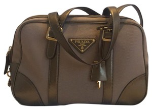 Prada Satchel in Tan & Gold