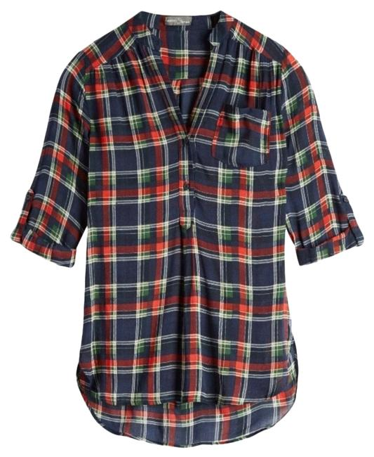 Preload https://img-static.tradesy.com/item/25692653/market-and-spruce-blue-green-and-red-calibri-plaid-henley-button-down-top-size-4-s-0-2-650-650.jpg