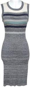 Chanel Knit Sweater Sleeveless Metallic Dress