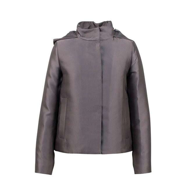 Valentino Gray Short Hooded Down Filled Coat Size 2 (XS) Valentino Gray Short Hooded Down Filled Coat Size 2 (XS) Image 1