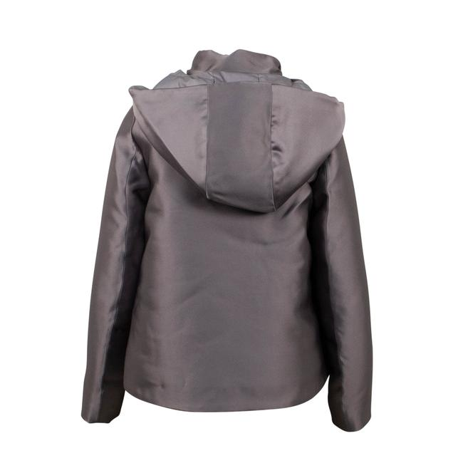 Valentino Gray Short Hooded Down Filled Coat Size 2 (XS) Valentino Gray Short Hooded Down Filled Coat Size 2 (XS) Image 2
