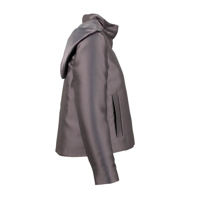 Valentino Gray Short Hooded Down Filled Coat Size 2 (XS) Valentino Gray Short Hooded Down Filled Coat Size 2 (XS) Image 3