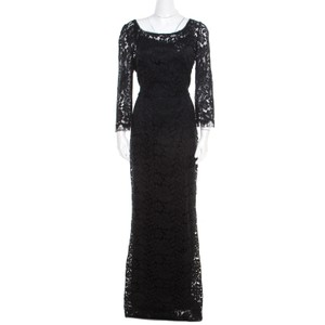 Black Maxi Dress by Dolce&Gabbana Floral Lace Maxi
