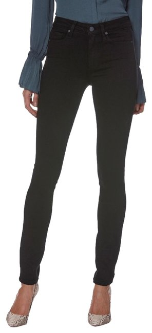 Item - Black Coated Hoxton Ultra In Shadow Skinny Jeans Size 27 (4, S)