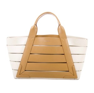 Balenciaga Tote in taupe and ivory