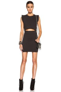 IRO short dress Black Cap Sleeve Cotton Knit Mini on Tradesy